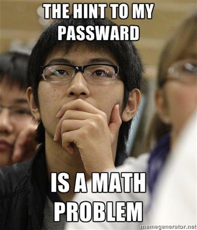 Asian Password Hint. OC. THE HINT TO MY freshman college password hint