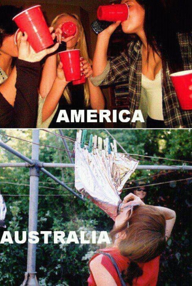 Australians. Goon Sack.. ahh good ol goon of fortune scrotum