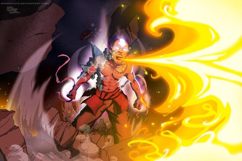 Avatar Aang. BADASS More alternative art over here! -->alternateartlives.blogspot.com/.