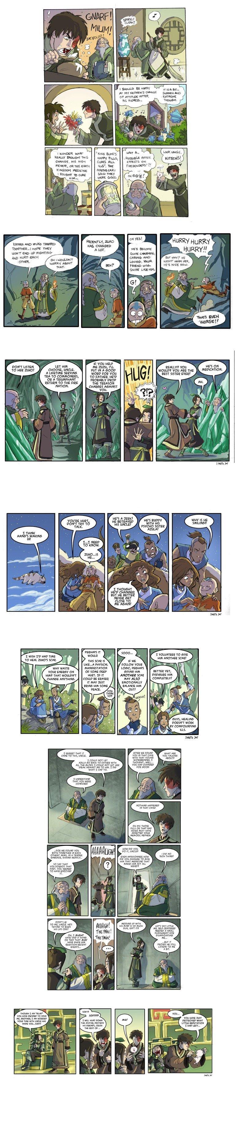 Avatar Comic Comp. Comics based on the season 2 finale .. poor zuko