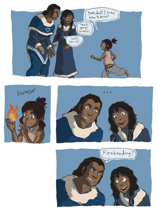 Avatar parent problems.... Not mine.. But can she lift? firebending legend of korra
