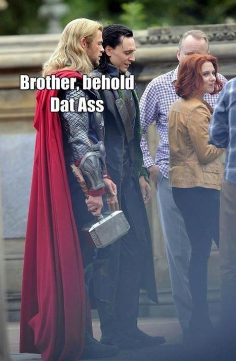 Avengers lols. Even gods need their women. thor avengers lol does anyone stil