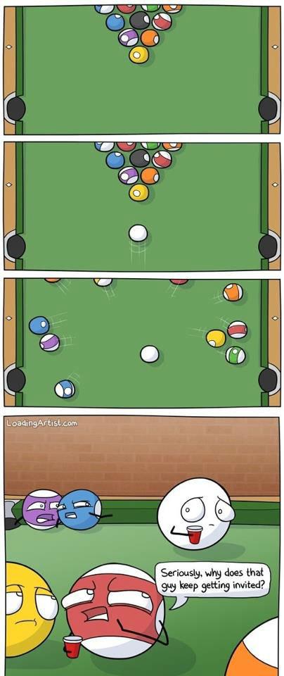 Awkward Pool Ball. .