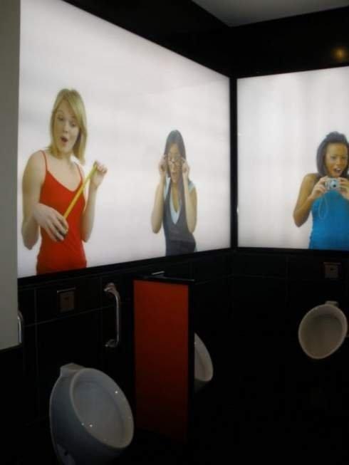 Awkward Bathroom.. ...... Great. Now I have something to aim for. awkward bathroom
