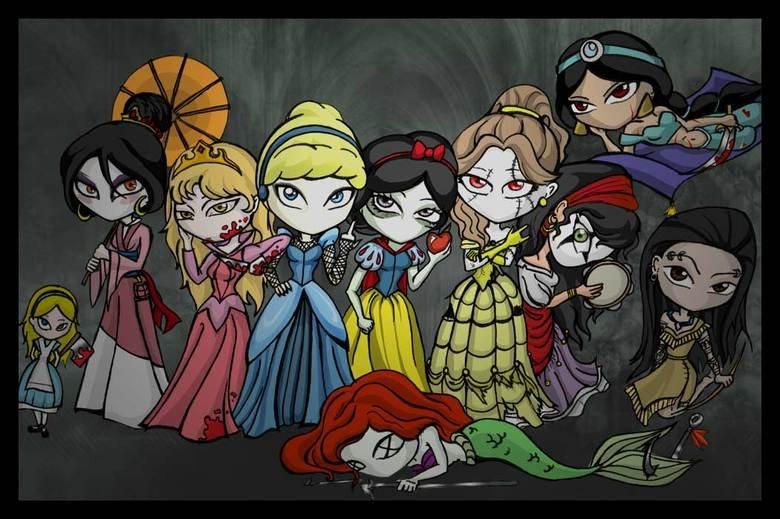 Awsome Disney Princesses. .. awesome beause they have no mouth!!! Disney princess Evil