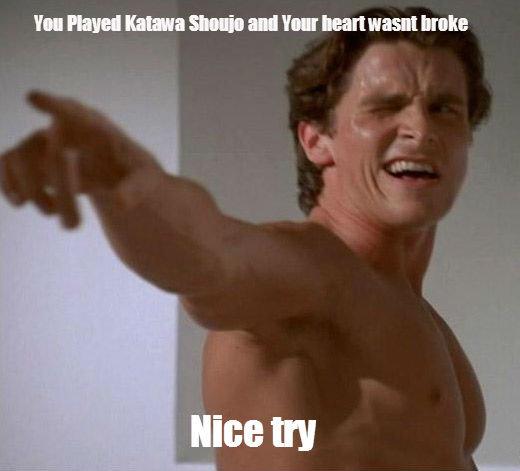 BATEMAN. You sly dog.. My heart was broke so hard.