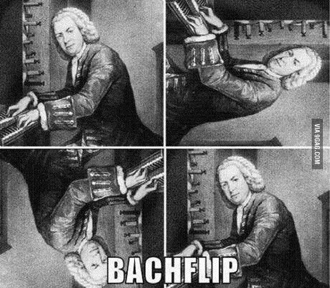 Bachflip. . pun puns Music piano