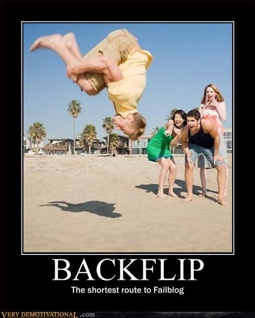 Back Flip. .