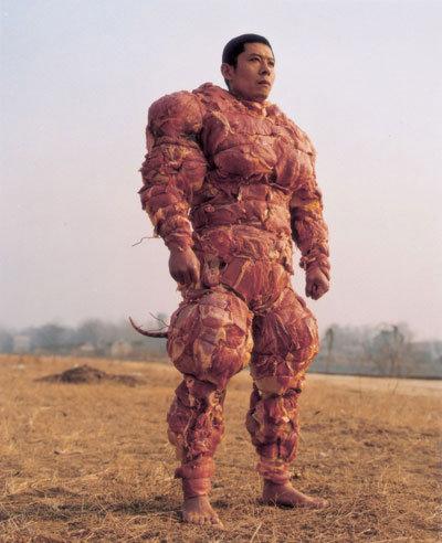 Bacon Man. is it a rat, is it meatman. no its Bacon Man!!!.. BE THE MEAT