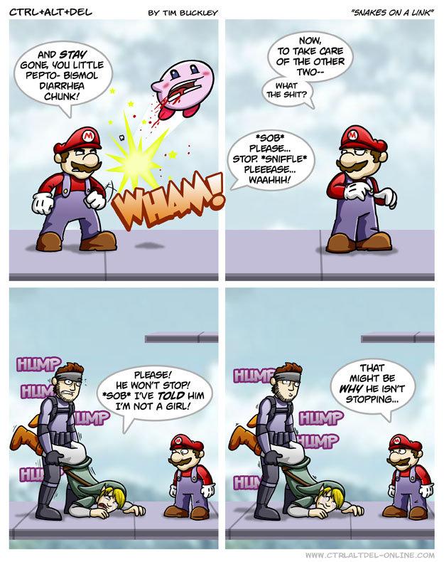 "Bad Mario. HAHAHa I love mario. Ber' TIM Bu: -ELEV "" A MU LITTLE I warn' am we min HIM. that is why his name is ""solid snake"" mario lugi"