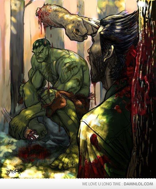 Badass. Wolverine has a bad headache but that's it..