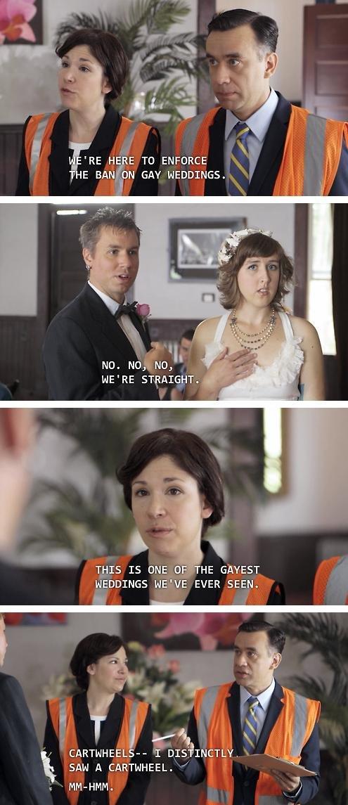 Ban on gay weddings.. . RE H RE TO ENFORCE ii p rt MI Bit I l I dfi WE' RE sgryut. i.. Hrri. 1315 IS L' HE HEYDINGO EVER SEEM,. Portlandia Sucks, bring on the hate