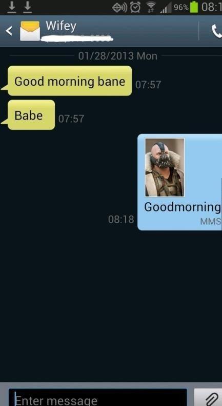 Bane. . Wife Grand morning bane