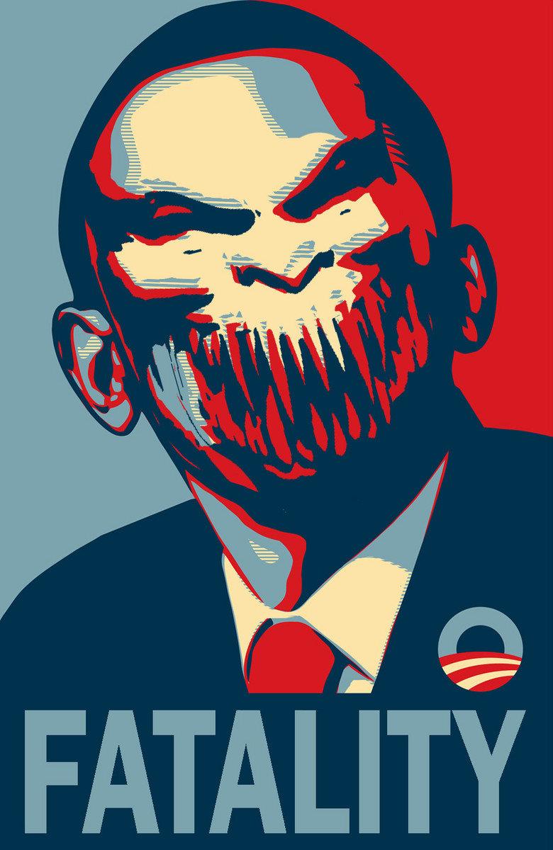 Baraka Obama. finish him! creddit.. i bet people here don't even know who is baraka pic semi related