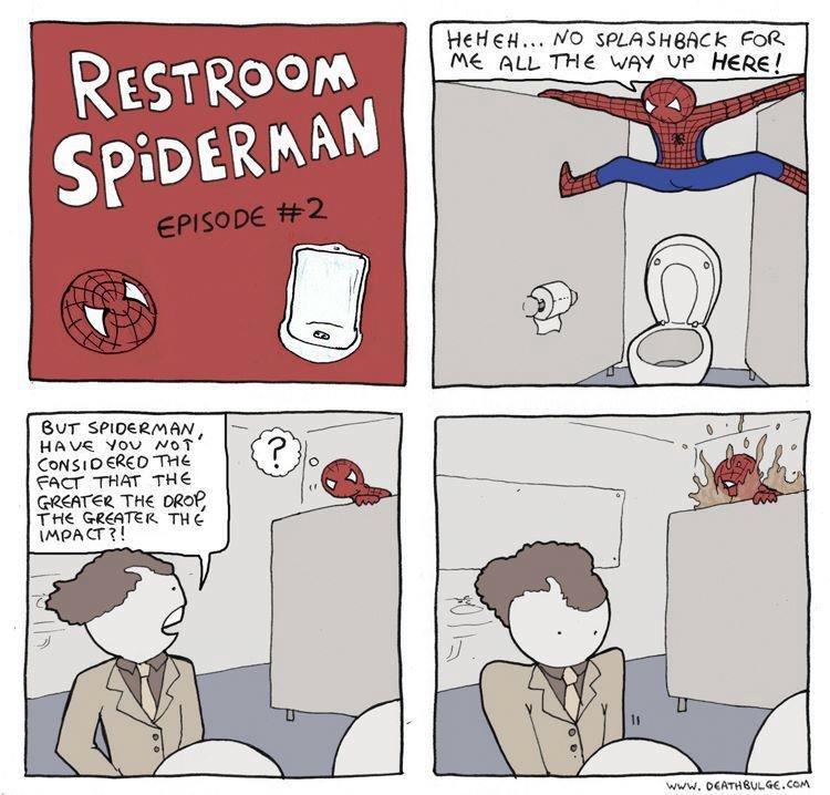 Bathroom spiderman #2. Taken from deathbulge. tyur Farr - THE mare: THE Uvbi' bi. , Ceuq
