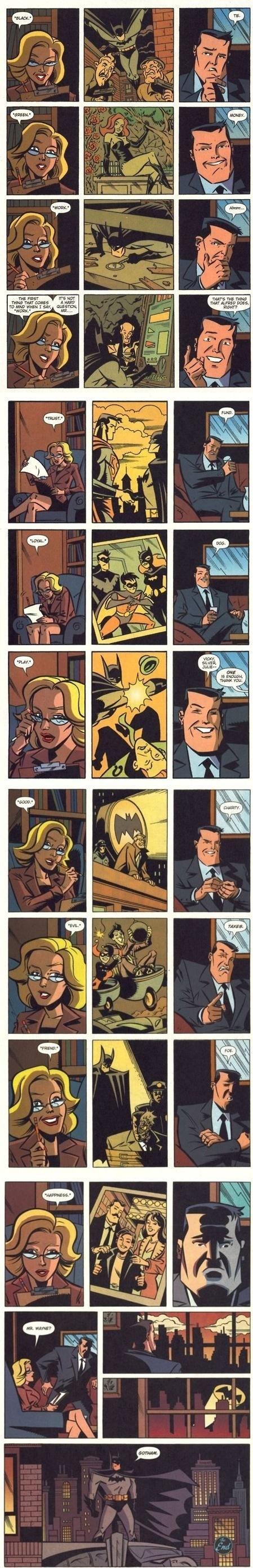 Batman, a true dedicated hero.. . batman comics