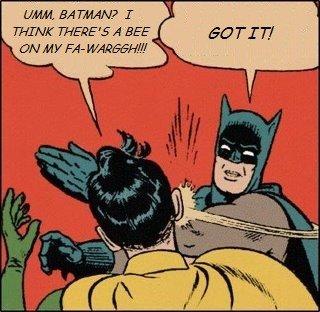 Batman Bee Slap. . EN HF Bale %