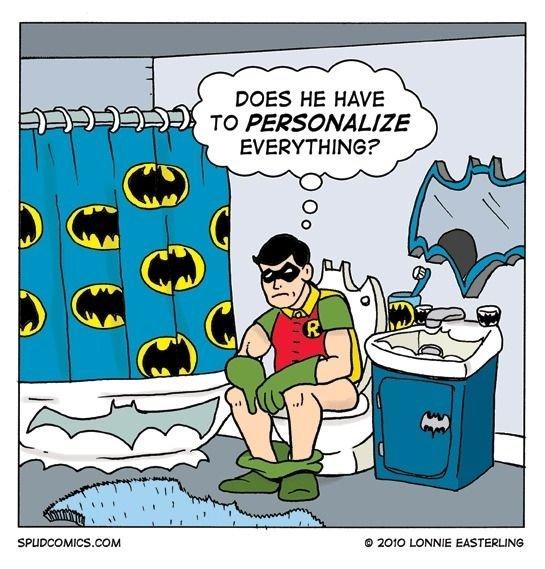 Batman can be a dick. Source in pic. Spt, it LEIBNIZ. Robin is going bat