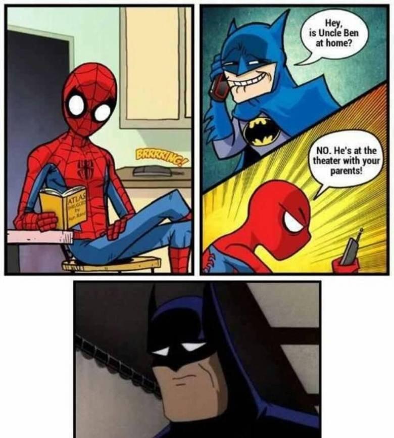 Batman got burnt. .