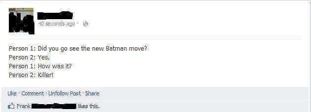 Batman Premier. . batman morbid death killer facebook