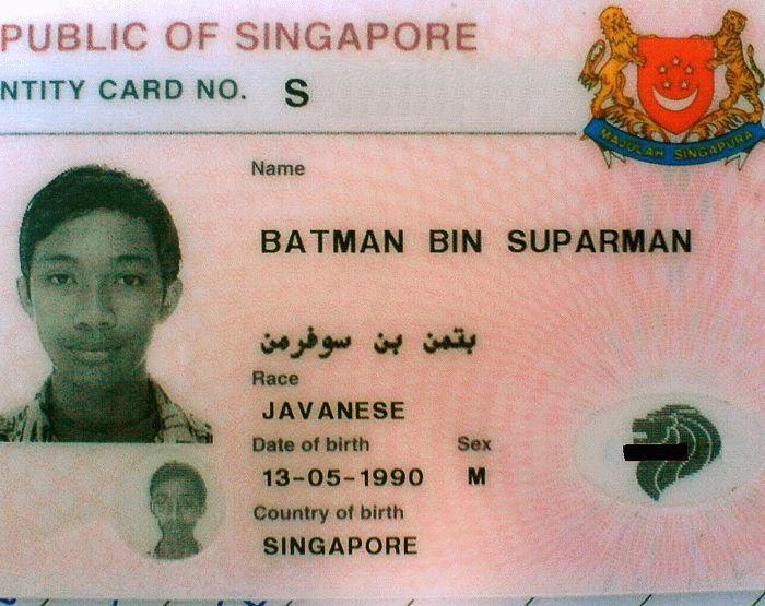 Batman's birthday!. your mom, its Batmans birthday. OF SINGAPORE CARD NO. s Name BATMAN Em Si. ' lmimit win!» new Ella. huh i always assumed he was younger than me