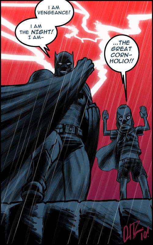 batman's new sidekick. found on /b/ made me lol. I AM