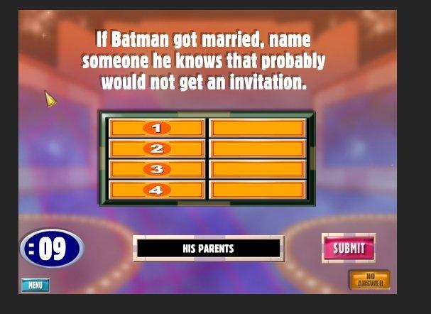 Batman. . It Batman not married. name would not at an invitation. tjl Lilian! Fiji. DEEEEEEAAAAAAD!