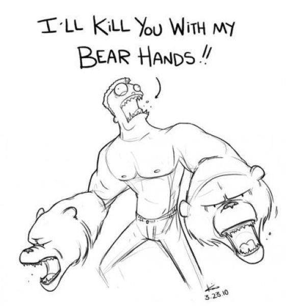 BEAR HANDS. .