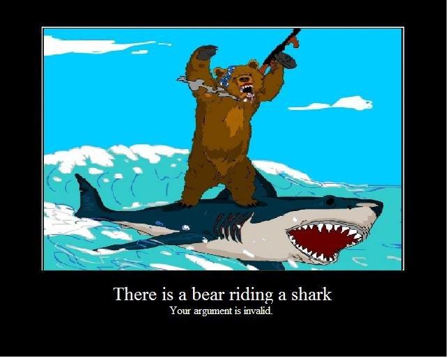Bear Riding Shark
