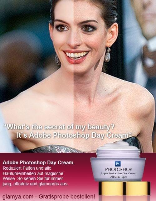 "Beauty Secret. . Adobe '', Day Cream. himari "" .%llel. Wane. So when Sue rm immer , 1 '. She's still goergeous"