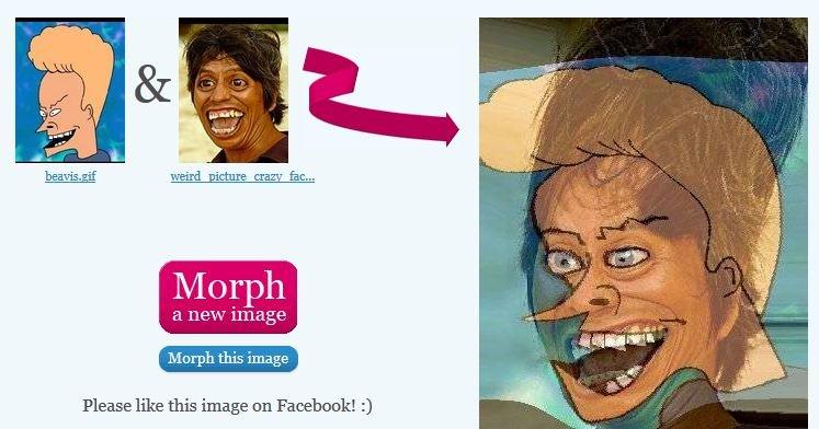 Beavis Weird face morph. . beavis weird Face morph