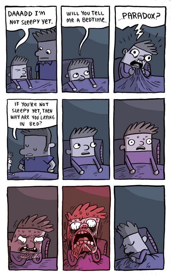 Bedtime Paradox. Found while stumbling.. DAMED PM NIH' VET. u. HLL Wu TELL