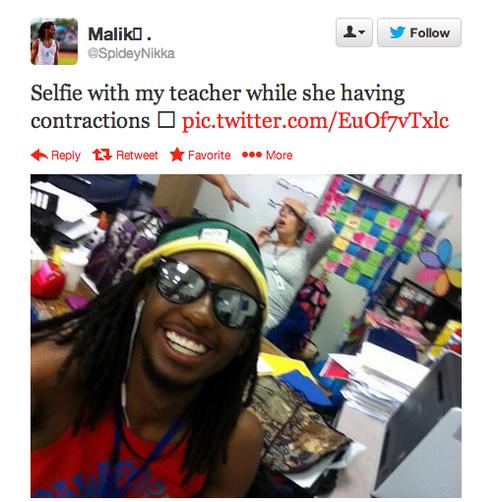 "Best Selfie. Best Selfie yet? I think so!. Same with my teacher while '3' ltu-' l, having. ""I be clownin' she be Crownin' #butts"" -Kumail Nanjiani"