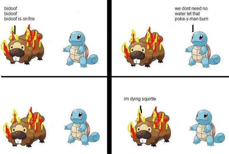 Bidoof is on Fire