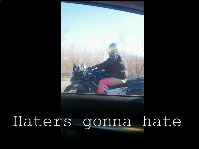 Biker Swag. Found on a friends facebook Added caption.