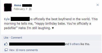 Birthday. Tags might lie.. Pedo life