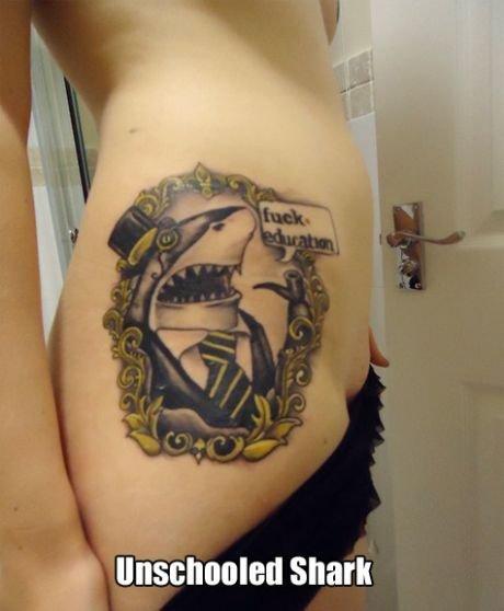 Bitchin tattoo. . tait 'Iii' i' Snark. WHOA! That's a shiny doorknob!