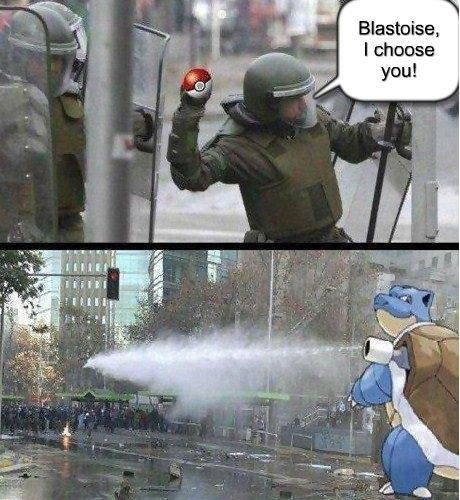 Blastoise, I Choose You!. . you!. opening water