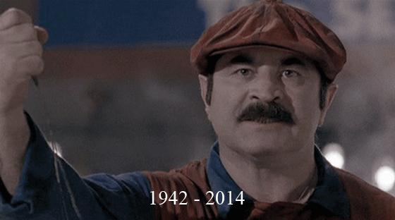 Bob Hoskins. He passed away at 71. RIP. 1942 -2014. Poor Mario