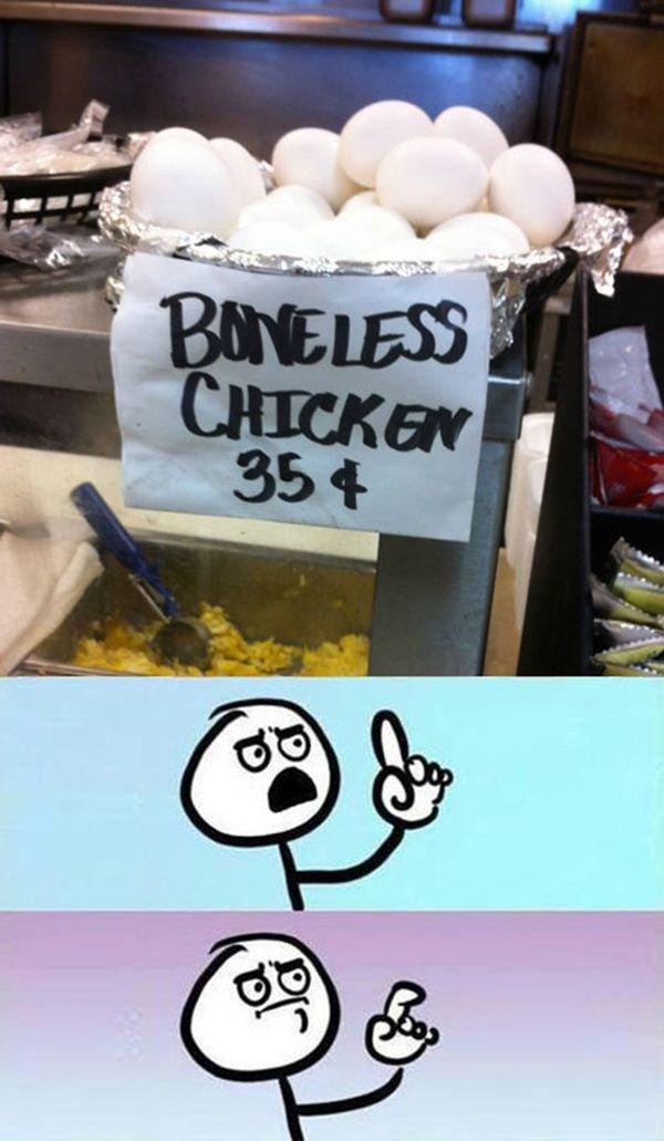 Boneless. .. IT WONT BE BONELESS FOR LONG.