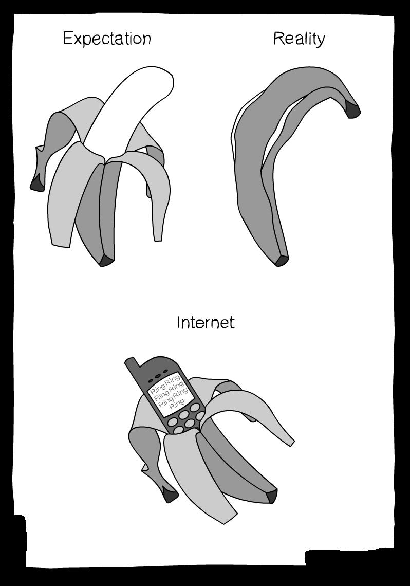 BOO BA DOO BA DOOB. . Expectation Internet. But who was phone? lolnein comics Bananas Phones internet