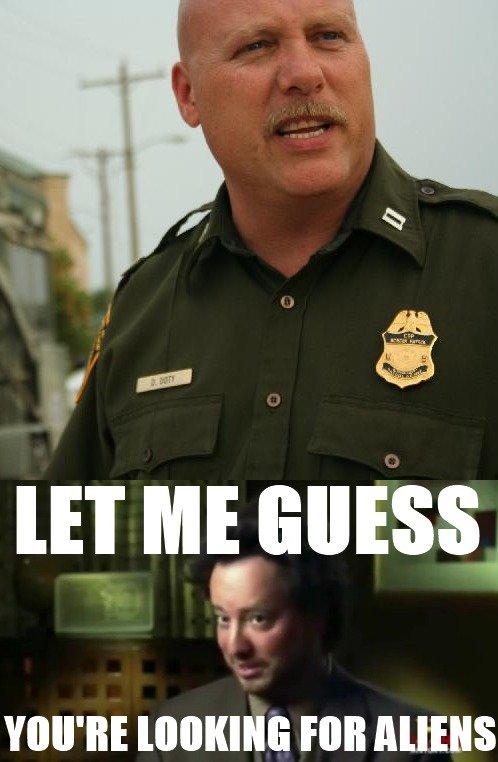"Border Patrol - Aliens?. OC. etsi, Hill Alli"""