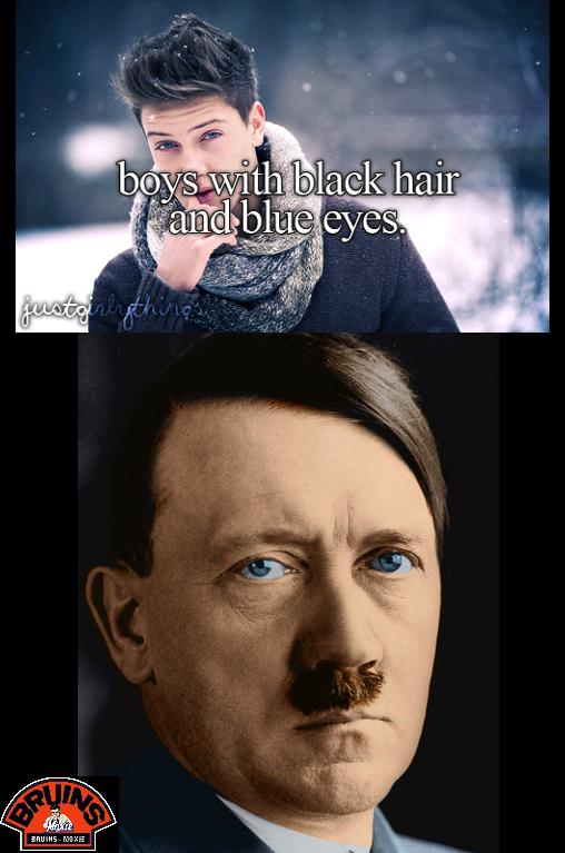 Boys With Black Hair & Blue Eyes. OC.