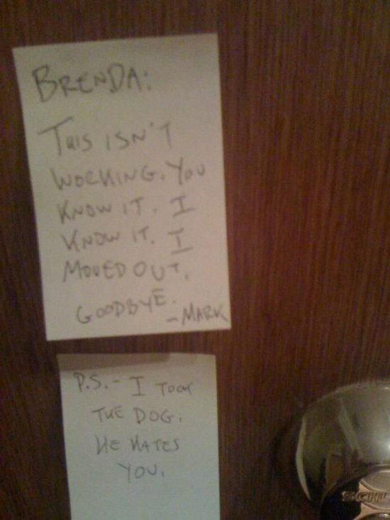 Break Up Notes Pt. 5. .