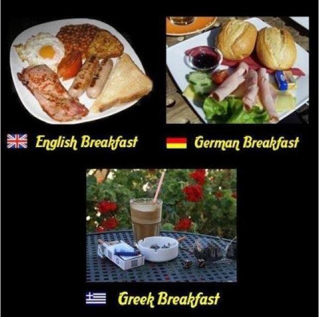 Breakfast. . 55 Grew Breakfast -. Skases mavro . . . shut up in greek