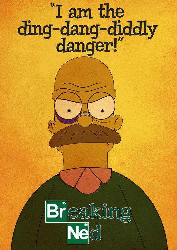 Breaking Ned. All hail the Flanders.. And Homer is the Ting-Tang-Walawala-Bing-Bang! breaking bad simpsons