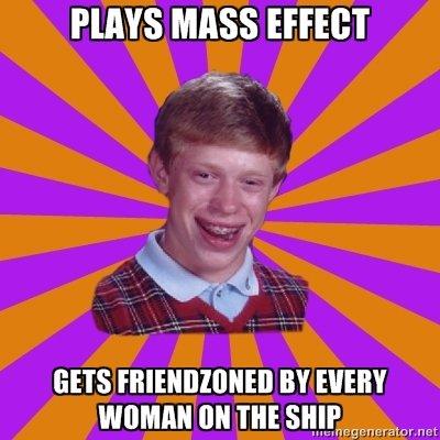 Brian strikes again. . HAYS MASS EFFECT rer GETS Bll mass effect Bad Luck Brian
