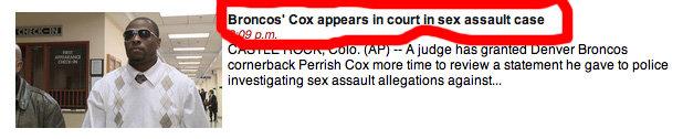 Bronco's Cox. .