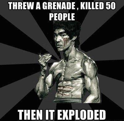 Bruce Lee. Bruce Lee or Chuck Norris?. PEOE' THEN IT Glial',