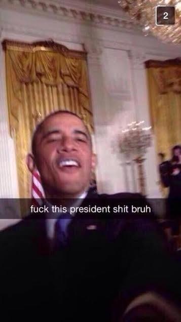 bruh. . this president bruh